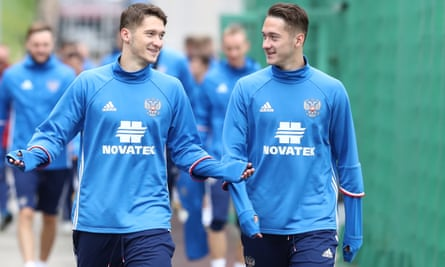 Russia's Anton Miranchuk and his twin brother, Alexey