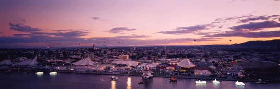 A riverside shot of Brisbane Expo