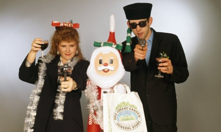 Kirsty MacColl and Shane MacGowan, singers of Fairytale of New York.