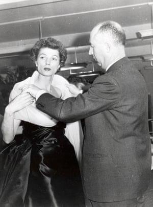 Christian Dior and fashion model c. 1950