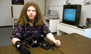 Jaron Lanier, photographed in 1990.