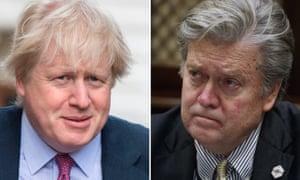 Boris Johnson and Steve Bannon