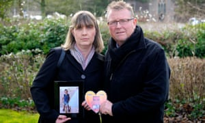 Steve and Yolanda Turner, parents of son Sean who aged four from a brain haemorrhage.