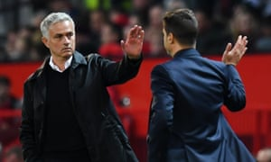 José Mourinho, here greeting Tottenham's manager Mauricio Pochettino, described the Champions League as 'the biggest one of all'.