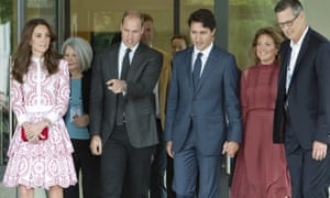 The Duke and Duchess of Cambridge are joined by Canada's Prime Minister Justin Trudeau and his wife, Sophie Gregoire.