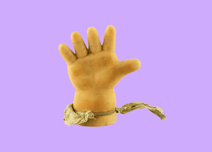 Doll's hand.