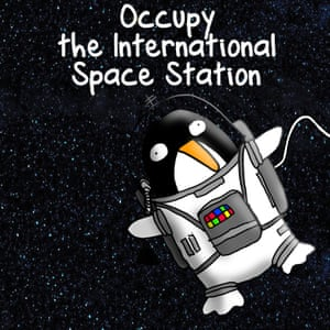 """Protesting in space by occupying the international space station"""