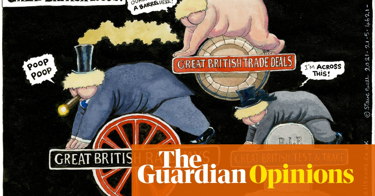 Steve Bell on the government's UK rail industry reform plan – cartoon