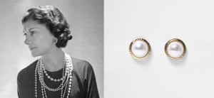Coco Chanel-inspired round, gold tone pearl stud earrings, £6, riverisland.com.