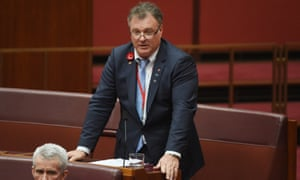 One Nation's Rodney Culleton in the Senate last week.