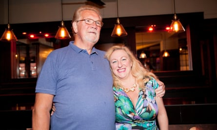 Owner Jon Bristow with ex-dancer Jo King, who now runs a school for burlesque and striptease