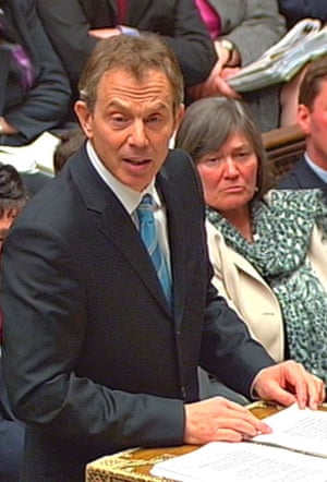 Tony Blair and Clare Short during the debate on Iraq on 18 March 2003 that preceded the votes leading to parliamentary approval for the war