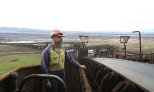 Operator Ron Bernardi at Hazelwood power station.