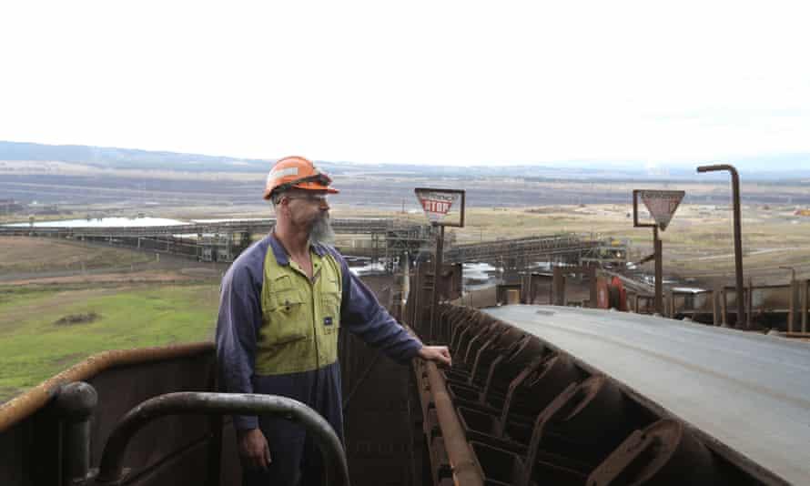 Operator Ron Bernardi at Hazelwood power station.