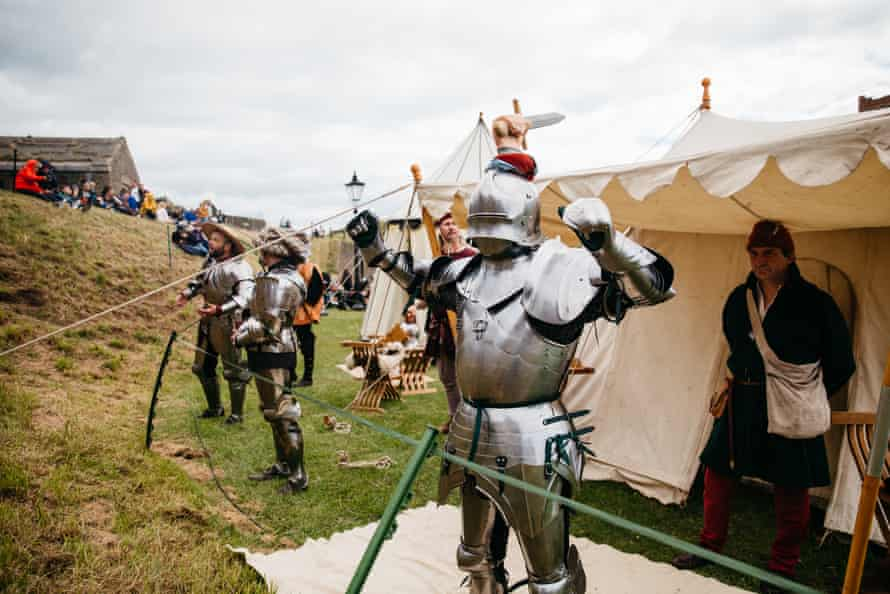 Dressing the knight, Leeds Castle