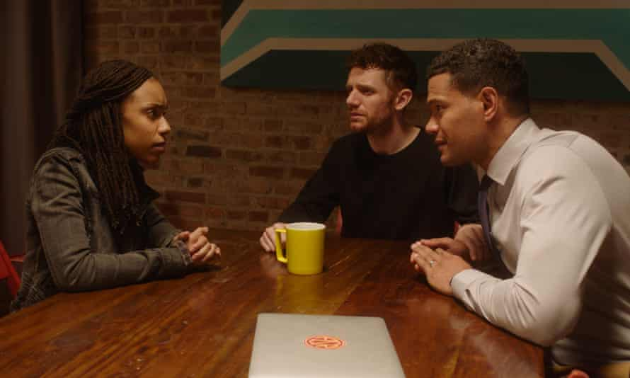 Jasmine Batchelor in a scene with Perfetti and Jones.