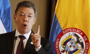 Juan Manuel Santos: 'Farc will change from being an obstacle for effective action against drugs to a key ally of the government.'
