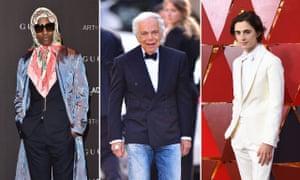 A$AP Rocky, Ralph Lauren and Timothée Chalamet