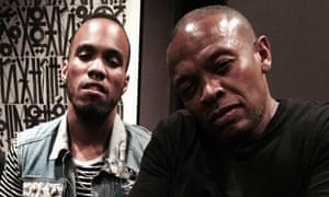 Anderson Paak, left, with his mentor, Dr Dre