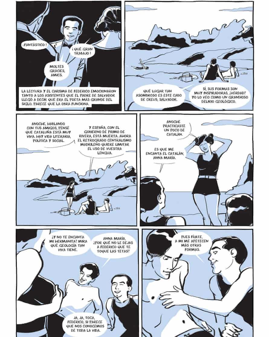 A page from the graphic novel by Ian Gibson and Quique Palomo.