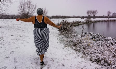 Ella Foote is braving the cold to wild swim every day through December until New Year's Day.