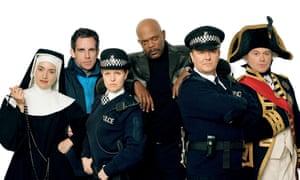 Line up... Kate Winslet, Ben Stiller, Ashley Jensen, Samuel L Jackson, Ricky Gervais and Ross Kemp.