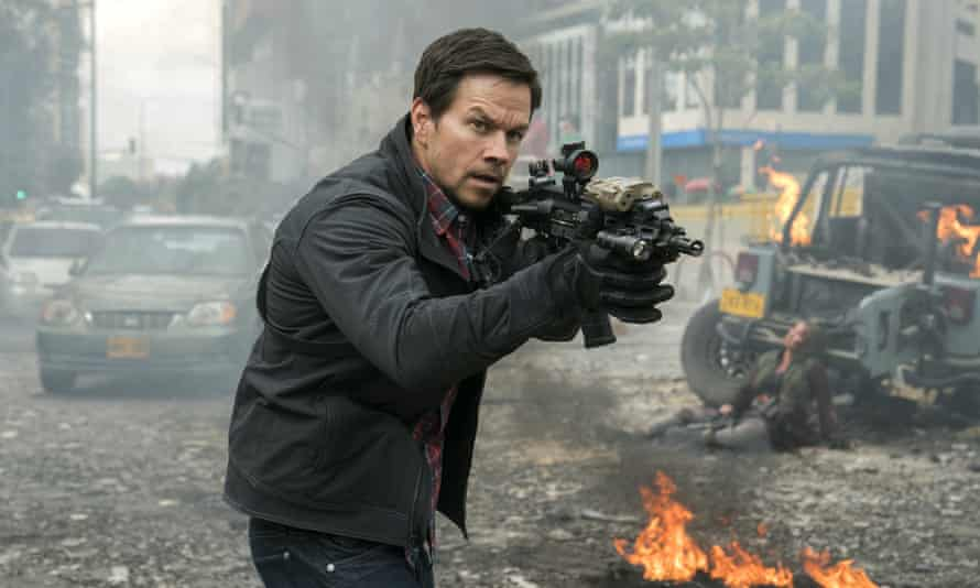 Dismayingly charmless … Mark Wahlberg in Mile 22.
