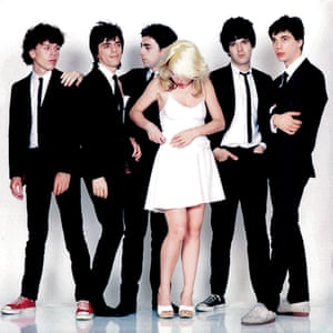 Debbie Harry and Blondie during the photoshoot for 1978's Parallel Lines