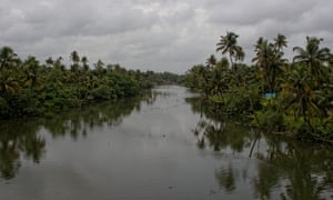 Muziris, India. A channel of the Periyar river near Pattanam