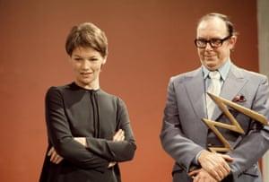 Glenda Jackson and Eric Morecambe in 1971