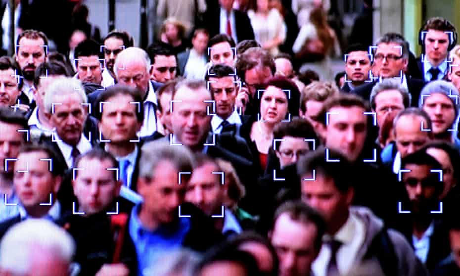 Targets around faces to be captured and compared in a facial recognition system.