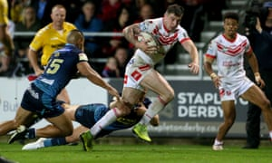Mark Percival runs in another try for St Helens