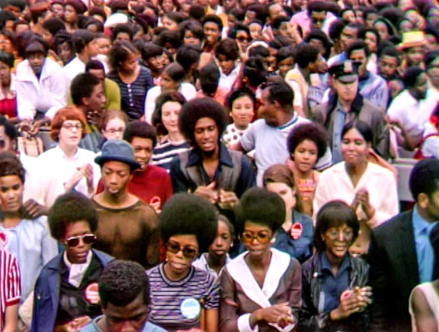 The crowd at the Harlem Cultural festival, 1969.