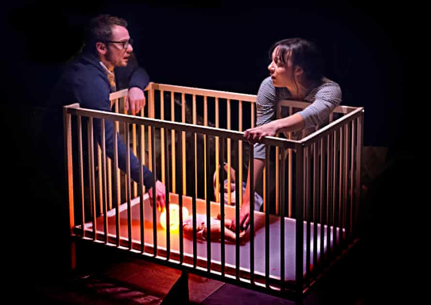 'Ferocity and tenderness' … Alex Waldmann, Adelle Leonce and glowing child in Nina Segal's play.