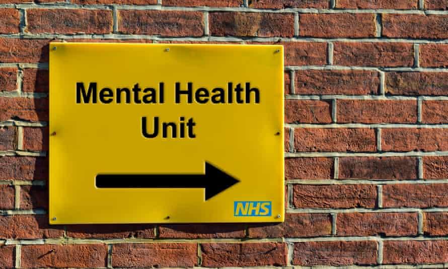 A sign saying Mental Health Unit, NHS.