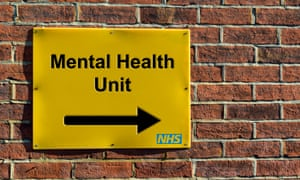 NHS wall mounted direction sign for a mental health unit