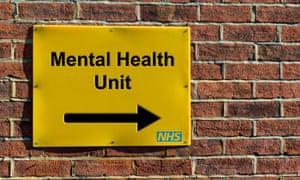 NHS mental health unit sign