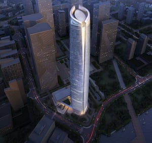 Wuhan Center Tower, designed by the East China Architectural Design and Research Institute (ECADI)