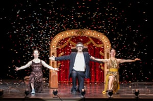 This American Life host Ira Glass, Monica Bill-Barnes and Anna Bass perform at the Granad Theatre in 2013