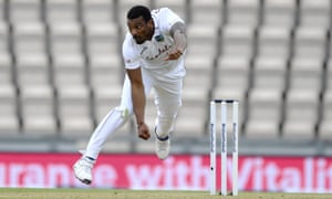 West Indies' Shannon Gabriel was at his best in the first Test against England at the Ageas Bowl.