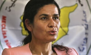 Ilham Ahmed, the co-chair of the Syrian Democratic Council.