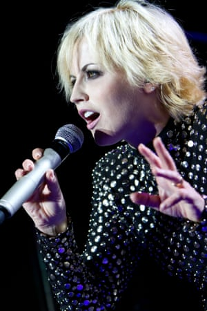 Dolores O'Riordan performing in Milan, 2012.