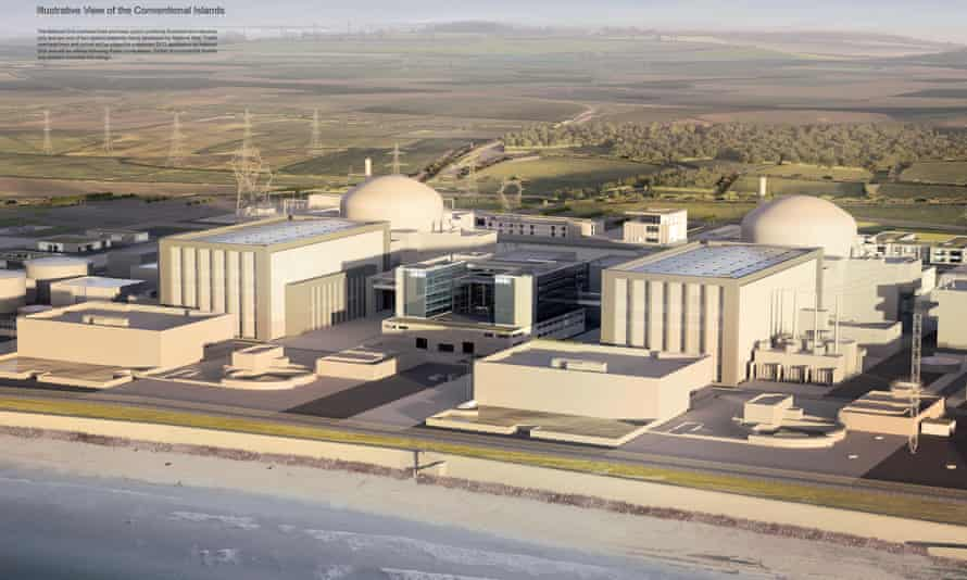 Artist's impression issued by EDF of plans for the new Hinkley Point C nuclear power station.