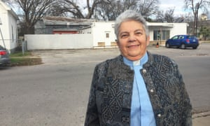 Babs Miller is part of the Sanctuary in the Streets initiative, which aims to frustrate immigration raids.