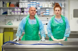 Vince Lovell and Molly Murphy, mortuary technicians, had never previously experienced anything like the increase in deaths from Covid-19 that they were required to deal with.
