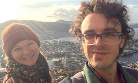 Rhiannon Inman Simpson and Pete Hillstrom in Norway where they lived for years