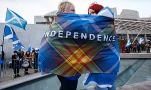 Demonstrators at Holyrood, February 2020.