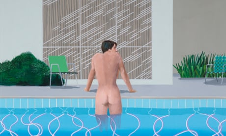 David Hockney review – 60 years of sex, sun and seismic shocks