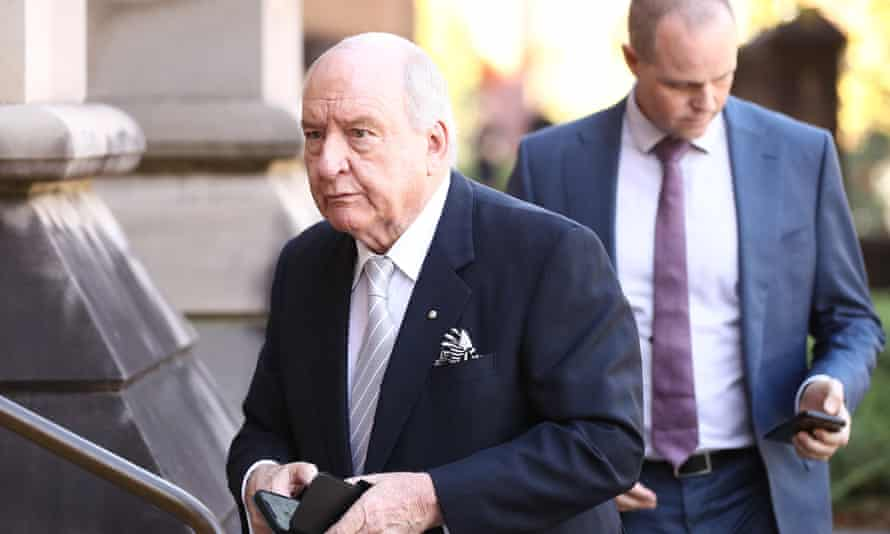 Alan Jones told audiences he now faces a headline that says he is being 'put in the broadcasting dustbin'.