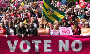 A pro-life rally in Dublin last weekend.
